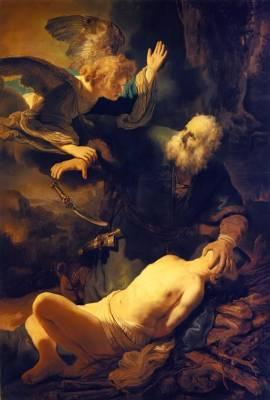 Rembrandt: Abraham i Izaak